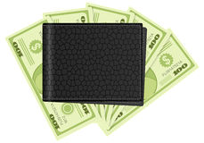Wallet and dollar banknotes Royalty Free Stock Photography