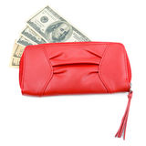 Wallet with dollar bills Royalty Free Stock Photo