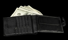 Wallet with dollar bils Royalty Free Stock Images