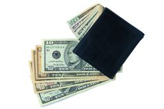 Wallet with dollars Stock Photo