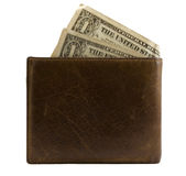 Wallet with dollars Stock Photos