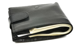 Wallet with dollars Royalty Free Stock Photo