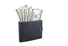 Wallet with dollars Stock Photography