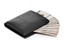 Wallet with dollars. Isolated on white Stock Images