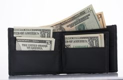 Wallet and dollars Royalty Free Stock Photo
