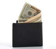 Wallet and dollars Stock Photos