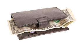 Wallet with dollars and a bank card Stock Photo