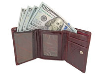 Wallet with dollars Royalty Free Stock Images