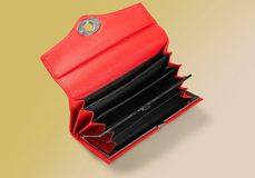 Wallet. Empty Change Purse Purse Red Currency Dependency Royalty Free Stock Images