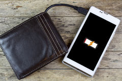Wallet with energy charge Royalty Free Stock Photo