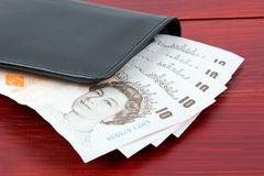 Wallet with English money Royalty Free Stock Image
