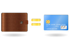 Wallet equal to a credit card Stock Photo