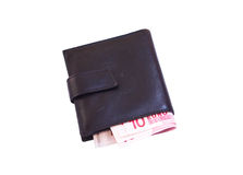 Wallet with euro Stock Image