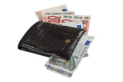 Wallet with euro Royalty Free Stock Image