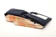 Wallet with Euro banknotes Royalty Free Stock Images