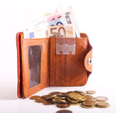 Wallet Euro Stock Images