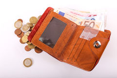 Wallet Euro Royalty Free Stock Images