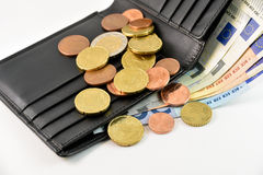 Wallet and euro money Stock Photography