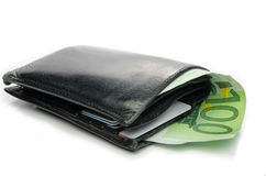 Wallet with euro Stock Images