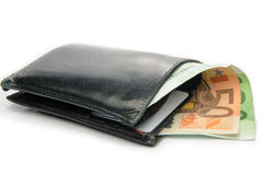 Wallet with euro Royalty Free Stock Photography