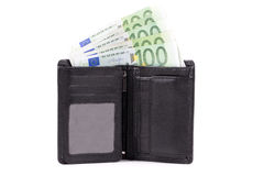 Wallet with European money Royalty Free Stock Images