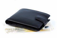 Wallet on 200 euros Stock Photos