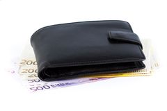 Wallet with euros Royalty Free Stock Image