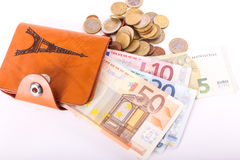 Wallet Euros Royalty Free Stock Images