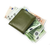 Wallet with euros Stock Photography