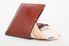Wallet and fifty Royalty Free Stock Images