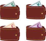 Wallet full currency Royalty Free Stock Images