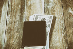 A wallet full of dollars Royalty Free Stock Image