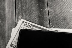 A wallet full of dollars Royalty Free Stock Photo