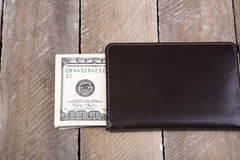 A wallet full of dollars Royalty Free Stock Photography