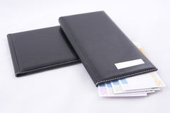 Wallet full of Euros Royalty Free Stock Photo
