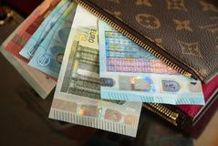 A Wallet Full Of Euros  Royalty Free Stock Photos