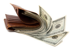 Wallet full of money Royalty Free Stock Photo