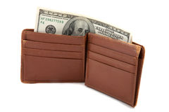 Wallet full of money Stock Photo