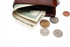 Wallet full of money. Stock Photos