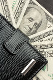 Wallet full of money Royalty Free Stock Photography