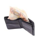 Wallet full of money isolated Stock Photo