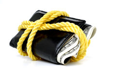 Wallet Full Of Cash Royalty Free Stock Photo