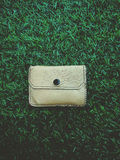 Wallet on grass Royalty Free Stock Image