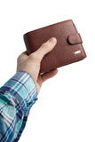 Wallet in hand Stock Photography