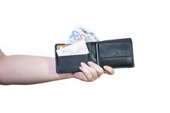 Wallet in hand Stock Photos