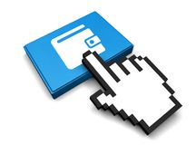 Wallet Icon. 3D Illustration Wallet Vector Icon Royalty Free Stock Image