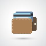 Wallet icon Stock Images