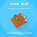 Wallet Icon Money Flat Blue Shadow Vector Royalty Free Stock Photos