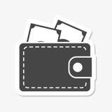 Wallet icon sticker. Icon Royalty Free Stock Image
