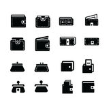 Wallet  icons set 16 item Stock Images
